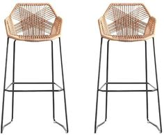 Wicker Counter Stools, Woven Bar Stools, Rattan Bar Stools, Stools For Kitchen Island, Bar Stool Chairs, Wicker Chairs, Counter Chair, Dining Chair, Kitchen Dining