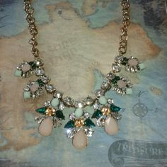 Gorgeous drop jeweled necklace!  NWT I love the colors in this necklace! Beautiful pastels and lots bling! Jewelry Necklaces