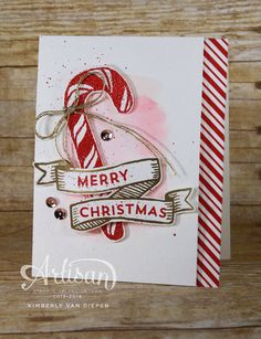 Stampin' by the Sea:The Best of Christmas Stampin' Up! Banners for Christmas, Real Red Glitter Stampin' Emboss Powder, Candy Cane Lane Designer Washi Tape Christmas Cards 2018, Stampin Up Christmas, Xmas Cards, Handmade Christmas, Holiday Cards, Christmas 2016, Christmas Banners, Christmas Parties, The Best Of Christmas