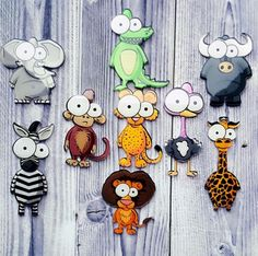 [Visit to Buy] New Sale Cartoon Cute Animals Acrylic Brooch Badges Decoration Pin On Backpack Clothing Decorative Monkey Brooches For Women #Advertisement