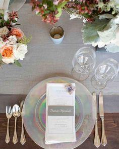 Iridescent Wedding Chargers  #Wedding, #WeddingInspiration, #WeddingMagazine, #Same-sexwedding, #LGBTwedding, #LGBTQwedding, #equality-mindedwedding, #gaywedding, #inclusiveweddings, #Family, #Lifestyle, #Baby, #Beauty