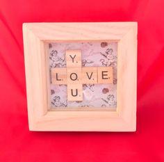 Lovers Gift Cute Scrabble Box Frame #scrabble #scrabbleframe
