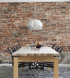 Rustic Living   Old Brick Wall Wallpaper by Mr Perswall   Jane Clayton