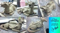 Clay Dragon -WIP- by xxMoonwish.deviantart.com on @deviantART