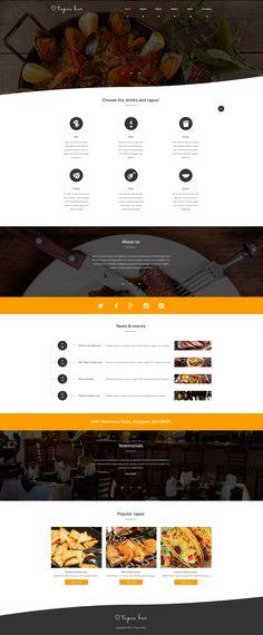 Website Template , Tapas Bar