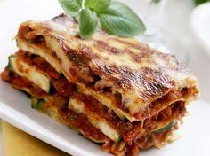 Hackfleisch-Zucchini-Lasagne