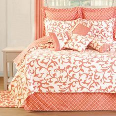 Image result for coral color coverlet