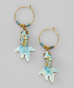 Take a look at this Blue Koi Fish Earrings by Nicole Michelle Jewelry on #zulily today!