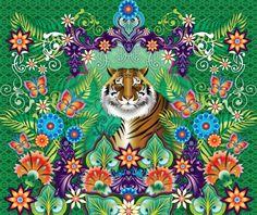 mural Catalina Estrada tiger - Catalina Estrada - Artistas Bloom