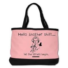 Hello Shift Pink Nurse Shoulder Bag > Nurse and Nursing Student Shoulder Bags > StudioGumbo - Funny T-Shirts and Gifts