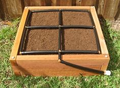 Grow a raised garden in less space. The 2x2 Raised Garden Kit gives you a watering system, planting guide, hose timer, water flow valve, and organic heirloom seeds. Grow a lot in just a little space!