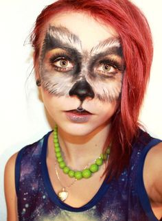 Go wild on this Halloween by creating this amazing Wolf Halloween makeup look. She-Wolf, Special Effects, Flirty Wolf, Grey & Yellow Werewolf Wolf Make Up Halloween, Unique Halloween Makeup, Pretty Halloween, Holiday Makeup, Halloween 2019, Halloween Stuff, Scary Halloween, Halloween Ideas, Happy Halloween