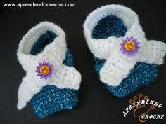Sapatinho de Bebê em Croche Pequetito - Aprendendo Crochê