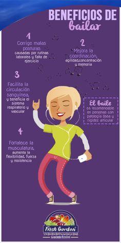 """""""Beneficios de bailar"""" ¡No sólo te diviertes, sino que puedes obtener mejor salud! #Baile #beneficios"""