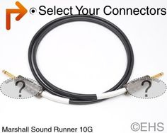 """Marshall Sound Runner 10 Gauge Speaker Cable 50 ft, EHS-Built by EVENT. $78.80. This is our custom-built 10AWG zip cord styled speaker cable. Construction is Marshall Sound Runner W8110, 10 GA speaker cable. It is a heavy-duty ultra durable oxygen-free copper (OFC) speaker cable with great flexibility. These are amazing sounding speaker cables and are perfect for studio applications. Pick the connectors you need: 1/4"""", Banana, Speakon, Fork and EP. For more information on cabl..."""