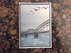 Sconebeker Stempelscheune: über sieben Brücken musst Du gehn ...Wherever You go, Geburtstagskarte, Trauerkarte, Durch die Gezeiten