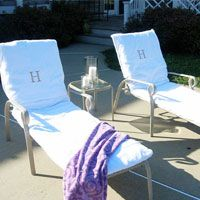 How to Make Towel Slipcovers for Outdoor Chairs - In My Own Style