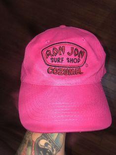 cba0d8449c5d Vtg Nwt Ron Jon Surf Shop Hot Pink Baseball Cap hat Unisex Cozumel Isl.  Adjust.