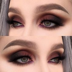 A smokey eye is one of the most classic makeup looks. At one time, women generally reserved their smokey eye looks for special occasions. However, smokey eyes are now an extremely popular eye makeup l Makeup Goals, Makeup Inspo, Makeup Ideas, Makeup Kit, Makeup Geek, Mascara, Eyeliner, Classic Makeup Looks, Make Up Designs