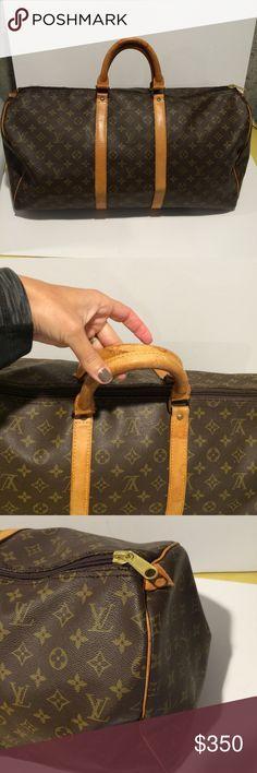 Authentic Louis Vuitton keepall 55 Travel bag.vintage.new zipper.100% authentic .no trades.no low offers Louis Vuitton Bags Travel Bags