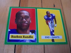 2012 Topps RUEBEN RANDLE Green Bordered 1957 Reprint RC Rookie Insert Card #11