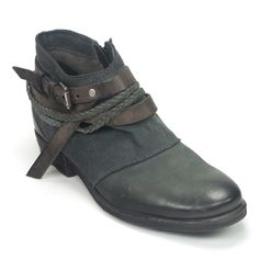The Miz Mooz Danita bootie combines a series of woven and leather straps for a truly one-of-a-kind look. Think of this as a Western influenced ankle boot with classy touches. A perfect pairing for tha