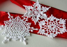 step by step crochet snowflake - Google Search
