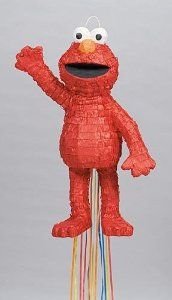 3D Elmo Pull Pinata by Shindigz. $16.99. Let our 3D Elmo Pinata shower your guests with lots of goodies! 1' 8 inch high x 1' wide. Pinata includes a Pull-String Kit. Pinata filler not included.