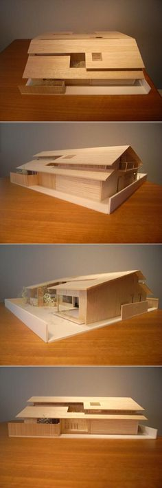 Modern family house with wooden facade and Shoji doors - House construction project modern architecture plan - Architecture Model Making, Plans Architecture, Modern Architecture House, Interior Architecture, Shoji Doors, Town Country Haus, Modern Family House, Wooden Facade, Arch Model