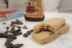 Tasty Health: Hemgjord Chocolate chip cookie dough questbar