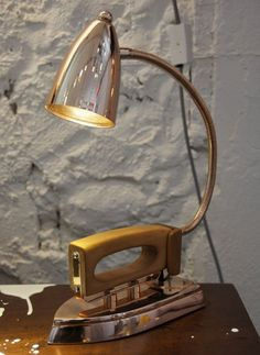 When shopping for a lamp for your house, the options are nearly unlimited. Discover the perfect living room lamp, bedroom lamp, desk lamp or any other type for your particular place. Lampe Industrial, Industrial Furniture, Vintage Industrial, Lamp Light, Light Up, Bar Deco, Retro Lampe, Steampunk Lamp, Pipe Lamp