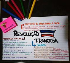 """193 curtidas, 9 comentários - É Por Amor! (@_sonhomed_) no Instagram: """"Boa noite, noite boa! Mapinha sobre a REVOLUÇÃO FRANCESA! Bons estudos! #mapamental #estudando…"""""""