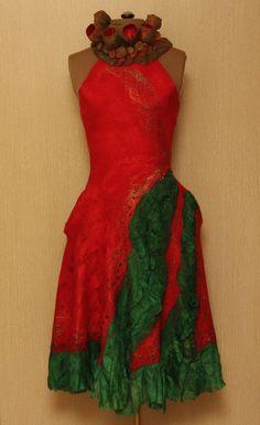 """Viva la Vida / Frida Kahlo """"Viva la Vida"""" Collection / Felted Clothing / Dress"""