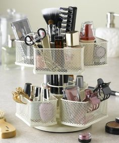 Nifty Cosmetic Organizing Carousel Cream *** Click image to review more details. Note:It is Affiliate Link to Amazon.