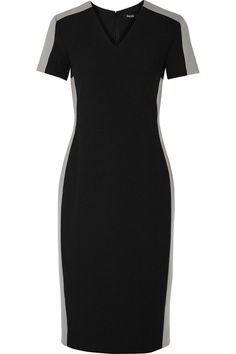 Raoul Heather black and grey two-tone crepe dress...perfect dress to transition from a day at work to a night out. simple and chic.