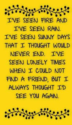 from James taylor song fire and rain