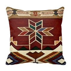 Navajo Aztec Native American Tribal Ethnic Western Pillows