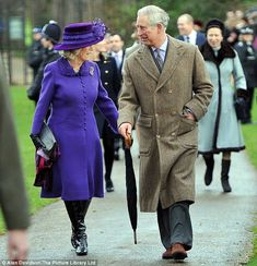 Prince Charles and Camilla Duchess of Cornwall arrive for the service. Prince William is spending Christmas with the Middleton family while Prince Harry is serving in Afghanistan