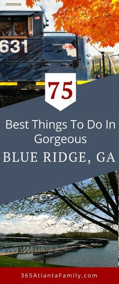 There are so many things to do in the Blue Ridge GA area! This Blue Ridge, Georgia Travel Guide includes the best outdoor adventures, hiking, scenic mountain views, ideas for awesome cabin and places to stay, best camping sites, riding the train, fun area attractions with kids including, ziplining, mountain biking, and more.  Specific hiking trails including waterfall hikes to amazing scenery.  Relax at the great area restaurants and breweries on this list! #BlueRidge #Georgia #familytravel #USA