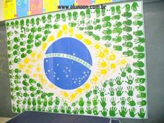40 Ideias para o Dia da Independência do Brasil - Parte 2 - Educação Infantil - Aluno On Brazil Party, Homecoming Floats, Back To School Bulletin Boards, Hispanic Heritage, Polymer Clay Miniatures, Countries Of The World, Classroom Decor, Independence Day, Crafts For Kids