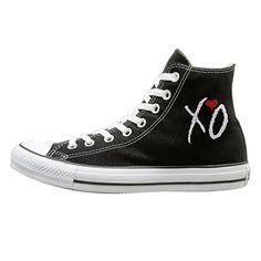3ecd71b5ef Tracy XO The Weeknd Wear-resisting Unisex Flat Canvas High Top Sneaker 42  Black Zombie