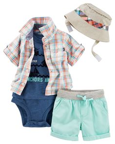 Baby Boy from OshKosh B'gosh. Shop clothing & accessories from a trusted name in kids, toddlers, and baby clothes. Toddler Boy Outfits, Kids Outfits, Baby Boy Fashion, Kids Fashion, Cute Baby Clothes, Babies Clothes, Baby Prince, Baby E, Boys Swimwear