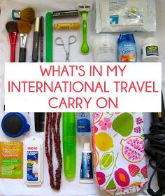 Bell Bliss: What's in my International Travel Carry On