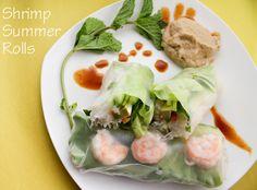 {keelymarie.com}   Summer Rolls ::: Peanut Sauce + Spicy Hoisin Dip