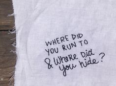 """But where did you run to, & where did you hide?"" Disenchanted - My Chemical Romance"