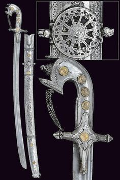 Saif (ca. 19th Century CE Arab Weapon, Arabia) | Silver mounted