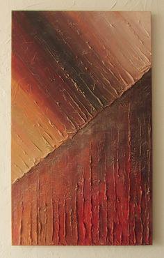 Malarstwo abstrakcyjne, akrylowe, na płótnie Obraz w ostrych barwach czerwieni