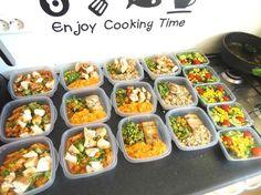 HIer nog wat leuke ideeën en recepten om deze vooruit klare maaltijden te maken ( preppen)