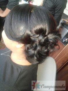 Recogido cabello corto