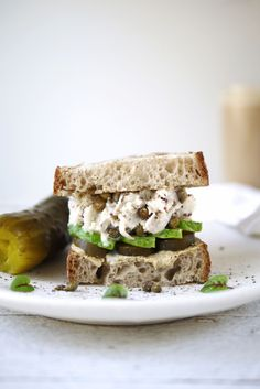 Vegan Tuna Sandwich with jackfruit - erin ireland